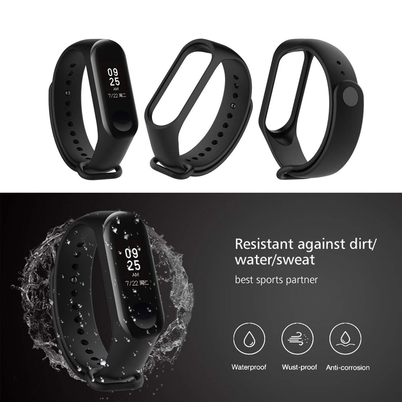 imperm/éable et Respirant (sans Tracker) Toutes Les Couleurs 12pcs P-Strap Xiaomi Mi Band 3 Strap Smart Remplacement Millet 3 Strap Mat/ériel TPE TPU r/ésistant /à lusure Non d/écolorant