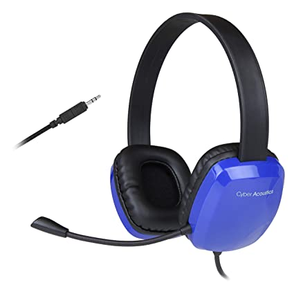 Cyber Acoustics Stereo Headset with Noise-Canceling Microphone - Compatible  with PC's, Macs, Chromebooks, Tablets, Smartphones, iPods, MP3 Players,