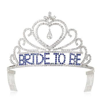 3f5f9fa6e2cd Amazon.com   DcZeRong Bachelorette Party Tiara Bridal Shower Crown Wedding  Shower Tiara Women Bride To Be Crowns   Beauty