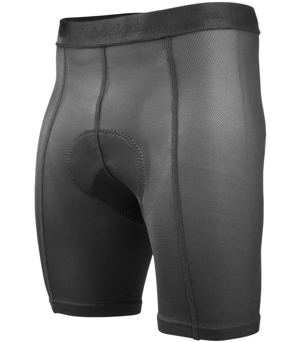 Aero Tech Designs Elite Air Gel Men's Padded Cycling Underliner,Black,Medium by AERO|TECH|DESIGNS (Image #1)