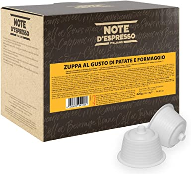 Note DEspresso - Cápsulas de sopa de patata con queso, 14 g (caja ...