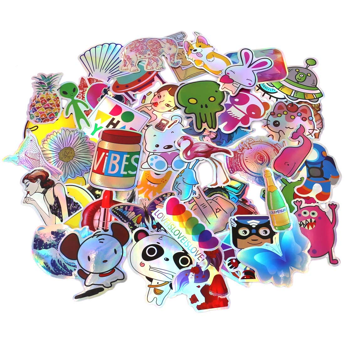 LhomeLife Graffiti Stickers Decals Pack of 50 pcs Car Stickers Motorcycle Bicycle Skateboard Luggage Phone Pad Laptop Stickers and Bumper Patches Decals Waterproof (Type 2)