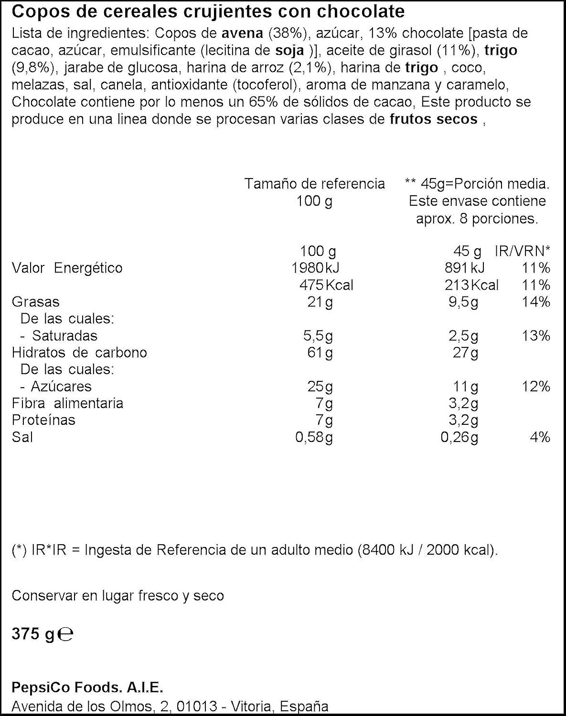 Quaker - Cruesli Chocolate 375 g - [pack de 3]: Amazon.es: Alimentación y bebidas