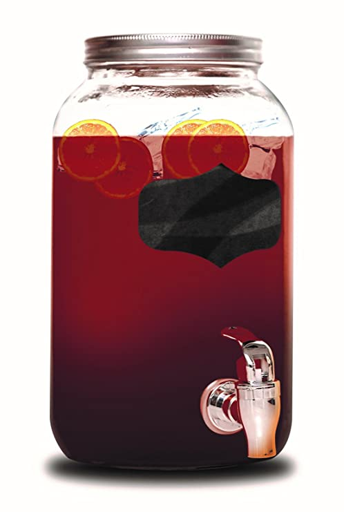 rammento Vintage Bebidas dispensador de bebida disponibles con pizarra de cristal con soporte, vidrio,
