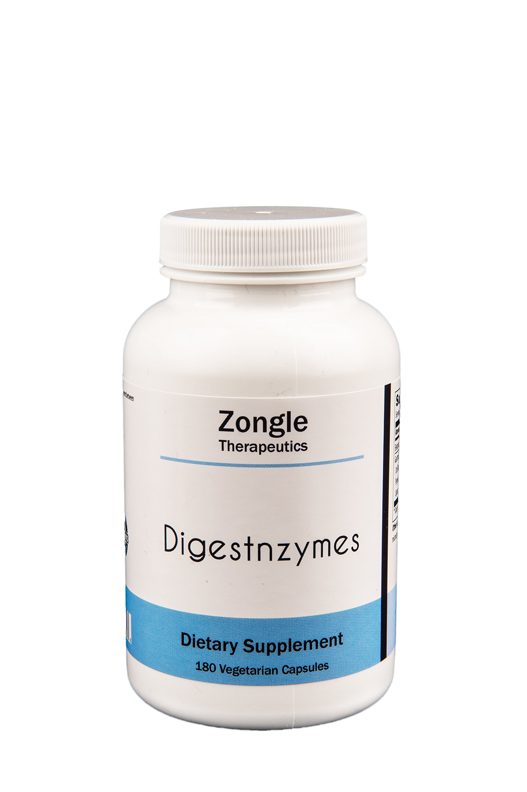 Zongle Therapeutics - Digestnzymes - 180 Vegetarian Caps - Betaine HCL, Peptidase, Pepsin, Protease, Lactase and more