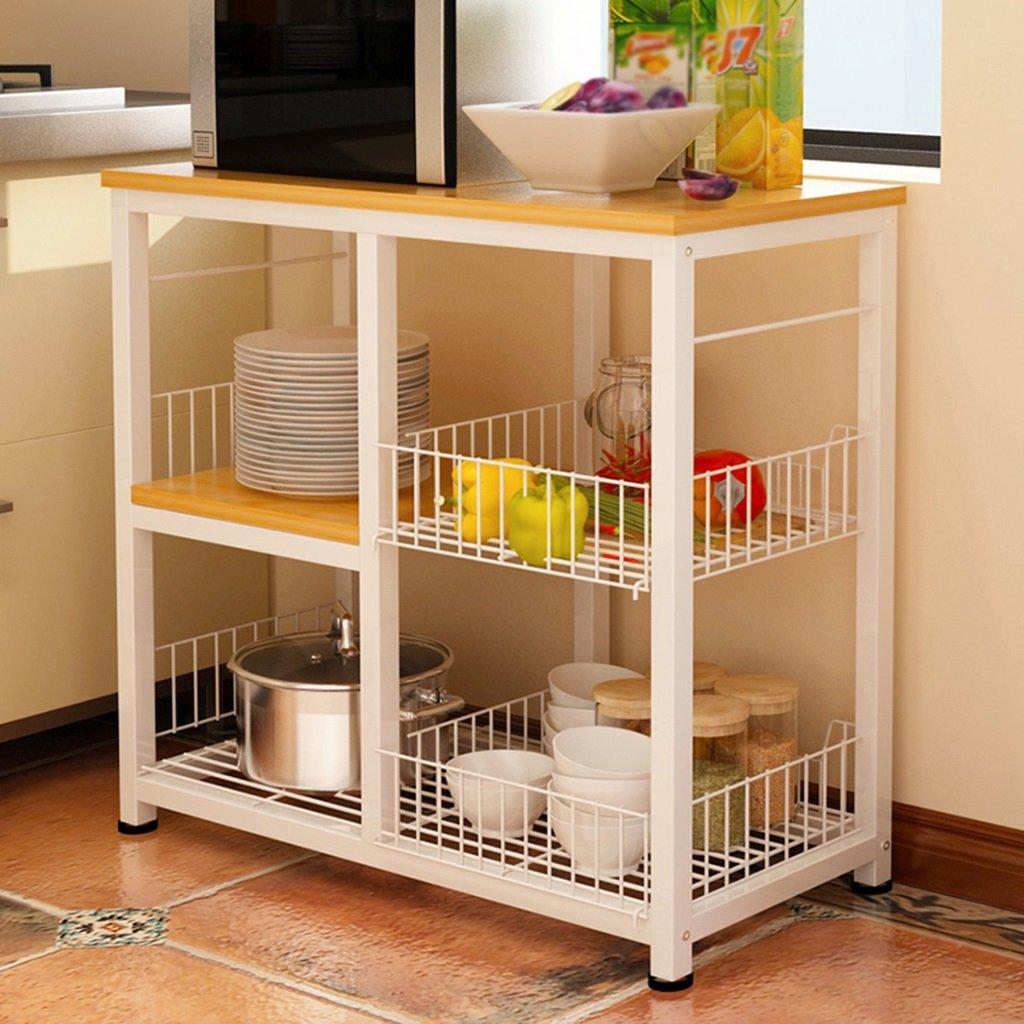 ダイニングキッチン家具 シンプルで実用的なキッチンラックマルチレイヤーシェルフホーム電子レンジオーブンラック多機能ストレージラック ( サイズ さいず : Style-1 ) B077PZGK65Style-1