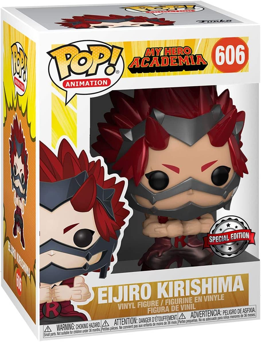Funko Pop Animation My Hero Academia Eijiro Kirishima Metallic Exclusive Vinyl Figure 606 Toys Games
