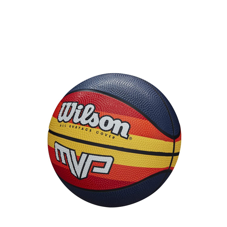 Wilson Balón de Baloncesto, MVP Retro, Cubierta de Goma, Todas Las ...