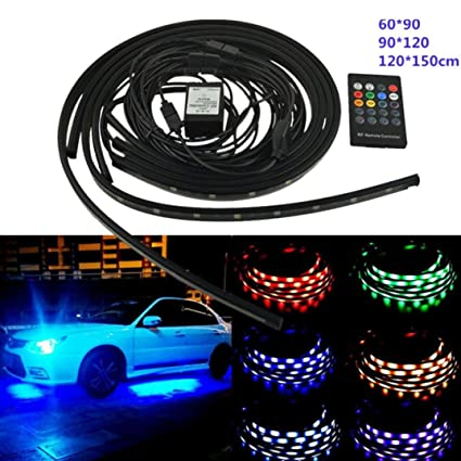 Amazon com: Quaanti Car Chassis Lights,6 Color LED Strip Under Car