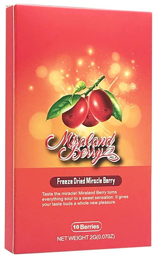 Miralandberry Freeze Dried Miracle Berry 10 Whole Berries Cut