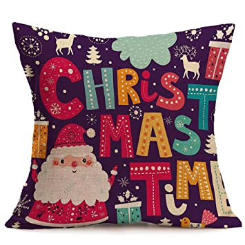 Riou Kissenbezuge Weihnachten Kissenhülle Dekokissen Throw Pillow