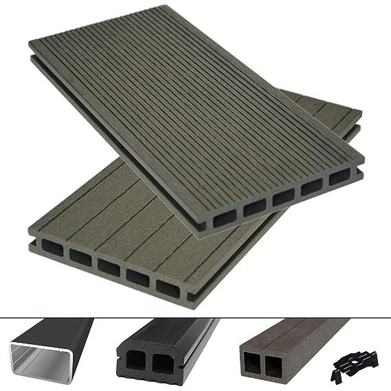 HORI® - Juego completo de tablones de terraza WPC/BPC, con cámara ...
