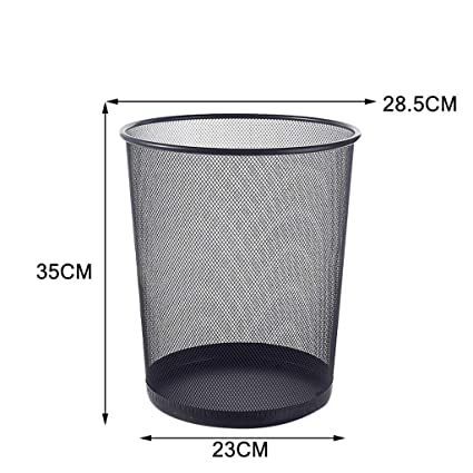 a9dab6a0f Image Unavailable. Image not available for. Color  Mobeka Trash Cans Wire Trash  Home Living Room Office Kitchen Bathroom Trash Bin Without Cover Paper