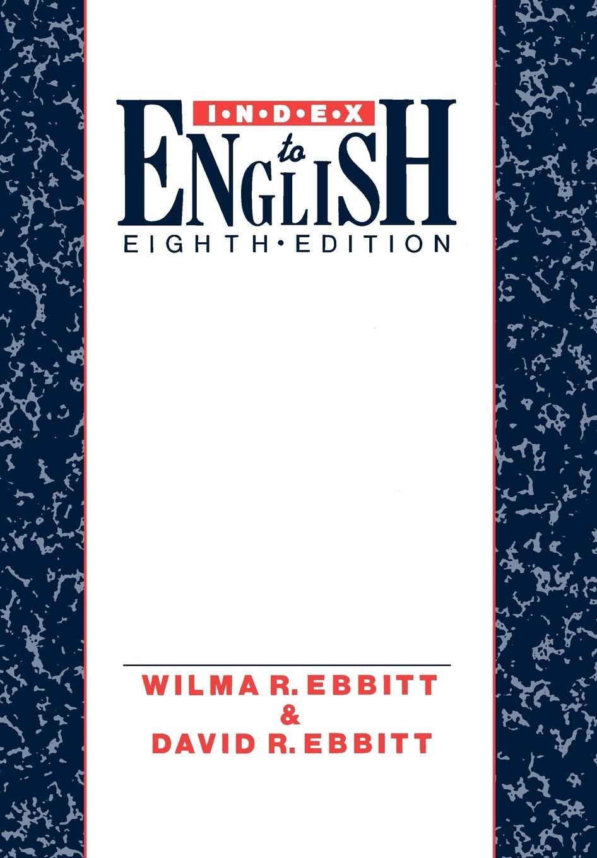 Index To English Amazoncouk Wilma R Ebbitt David R