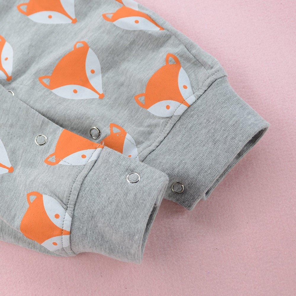 XXYsm Baby Overall Strampler Pyjamas M/ädchen Jungen Fuchs Drucken Schlafstrampler Jumpsuit