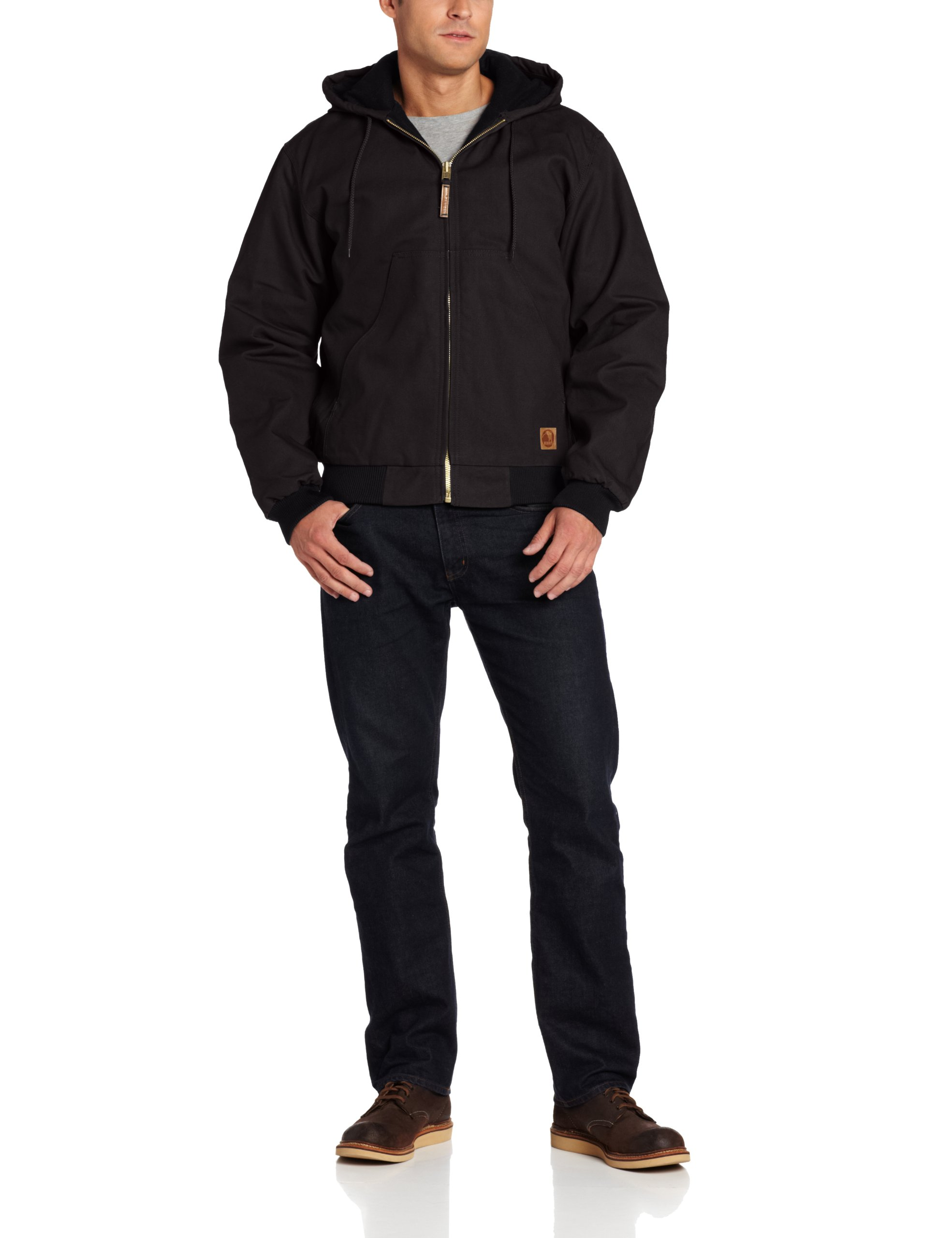 Berne Men's Big-Tall Original Hooded Jacket, Black, 5X-Large/Tall