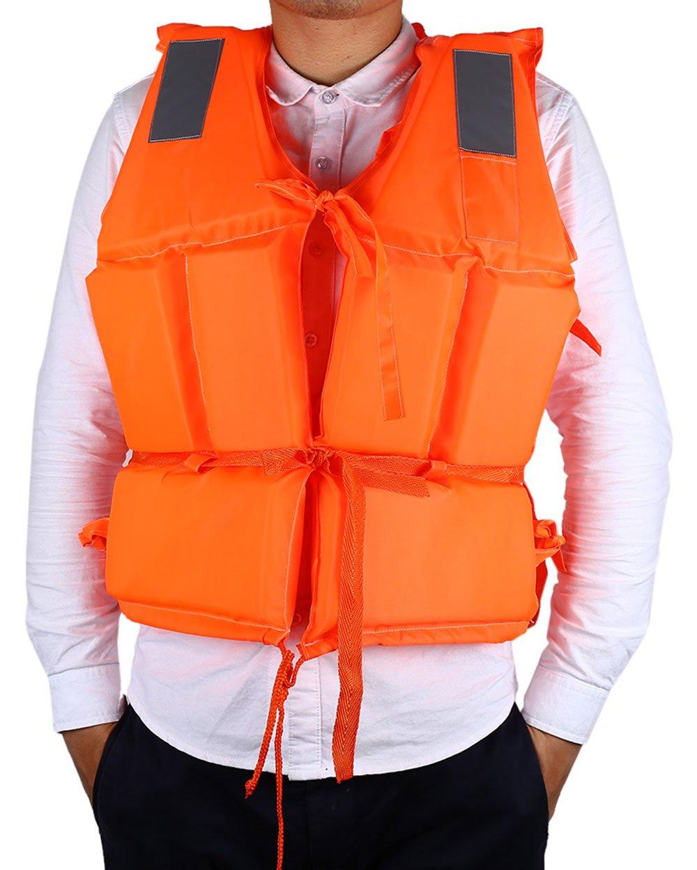 【メール便不可】 Ezyoutdoorオレンジジャケットベスト軽量多機能Foam反射Foam水泳ライフジャケットベスト+ Lifesaving for B01CCRH5RY whistle Adult for Adult B01CCRH5RY, ホウジョウチョウ:44d835c1 --- senas.4x4.lt