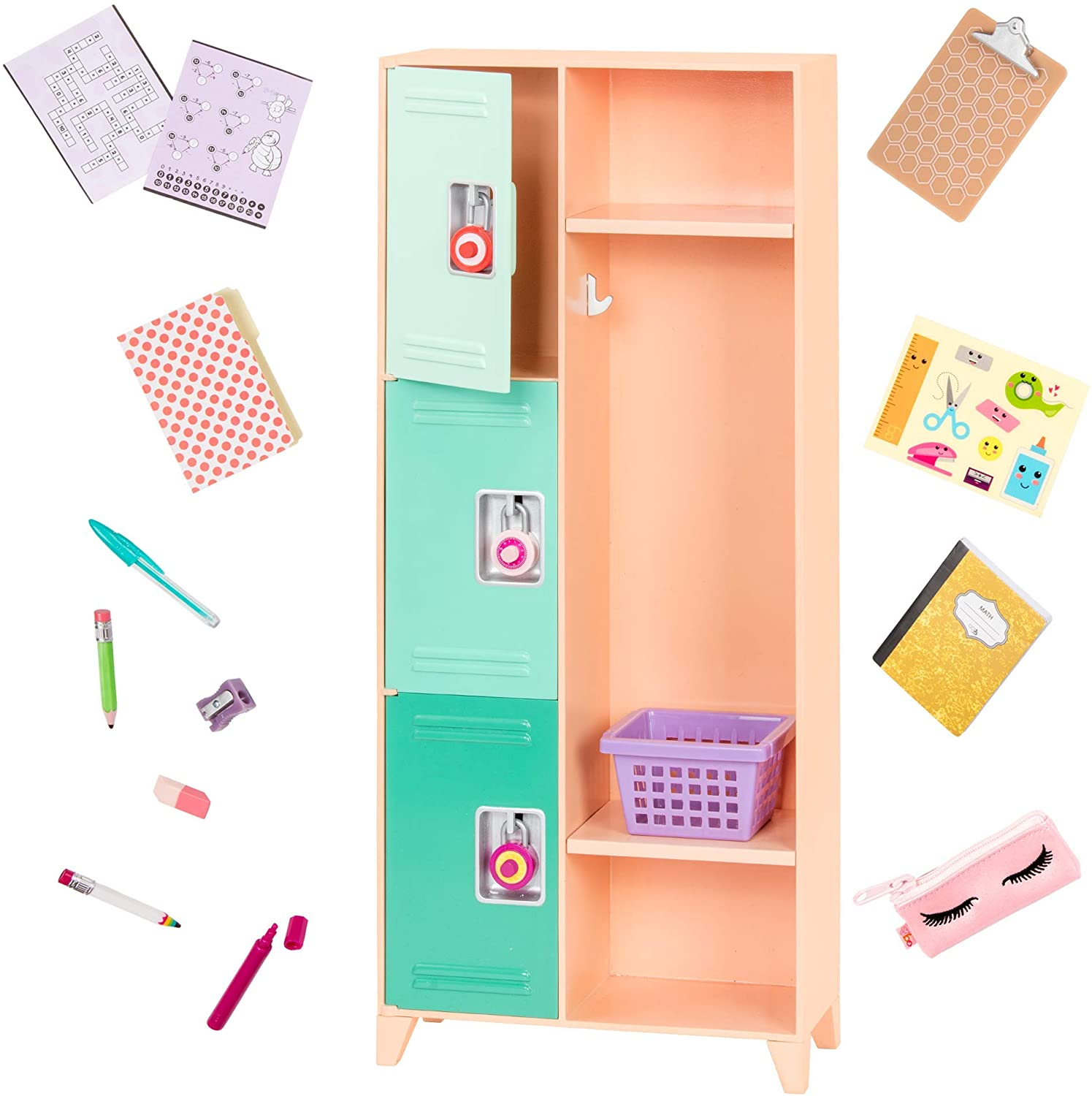 "Our Generation- Classroom Cool Locker Set- Playset, Classroom, School for 18"" Dolls- Suitable for Ages 3+"
