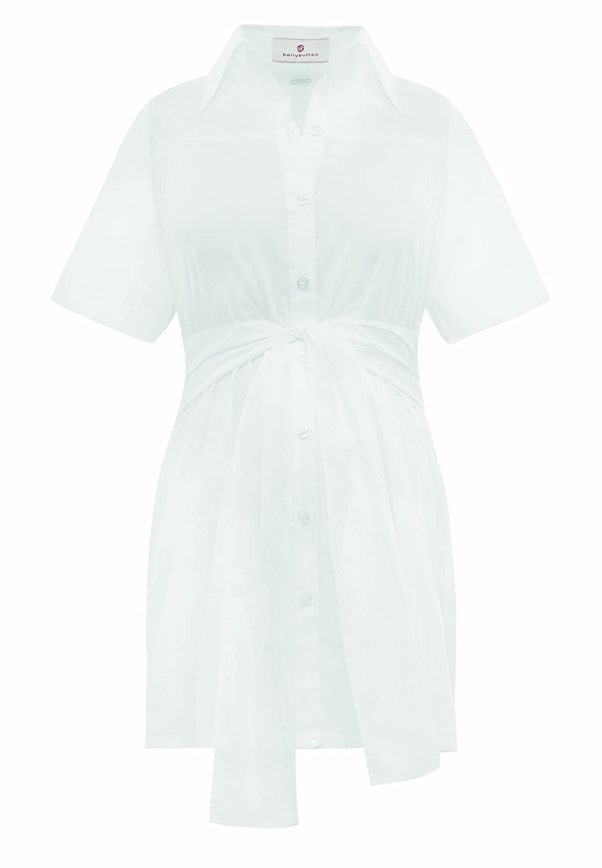Bellybutton Women's Turndown collar Short Sleeve Maternity Blouse