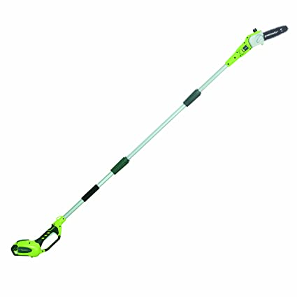 5. GreenWorks 20672 G-MAX 40V 8-Inch Cordless Pole Saw, 2Ah Battery and Charger Included