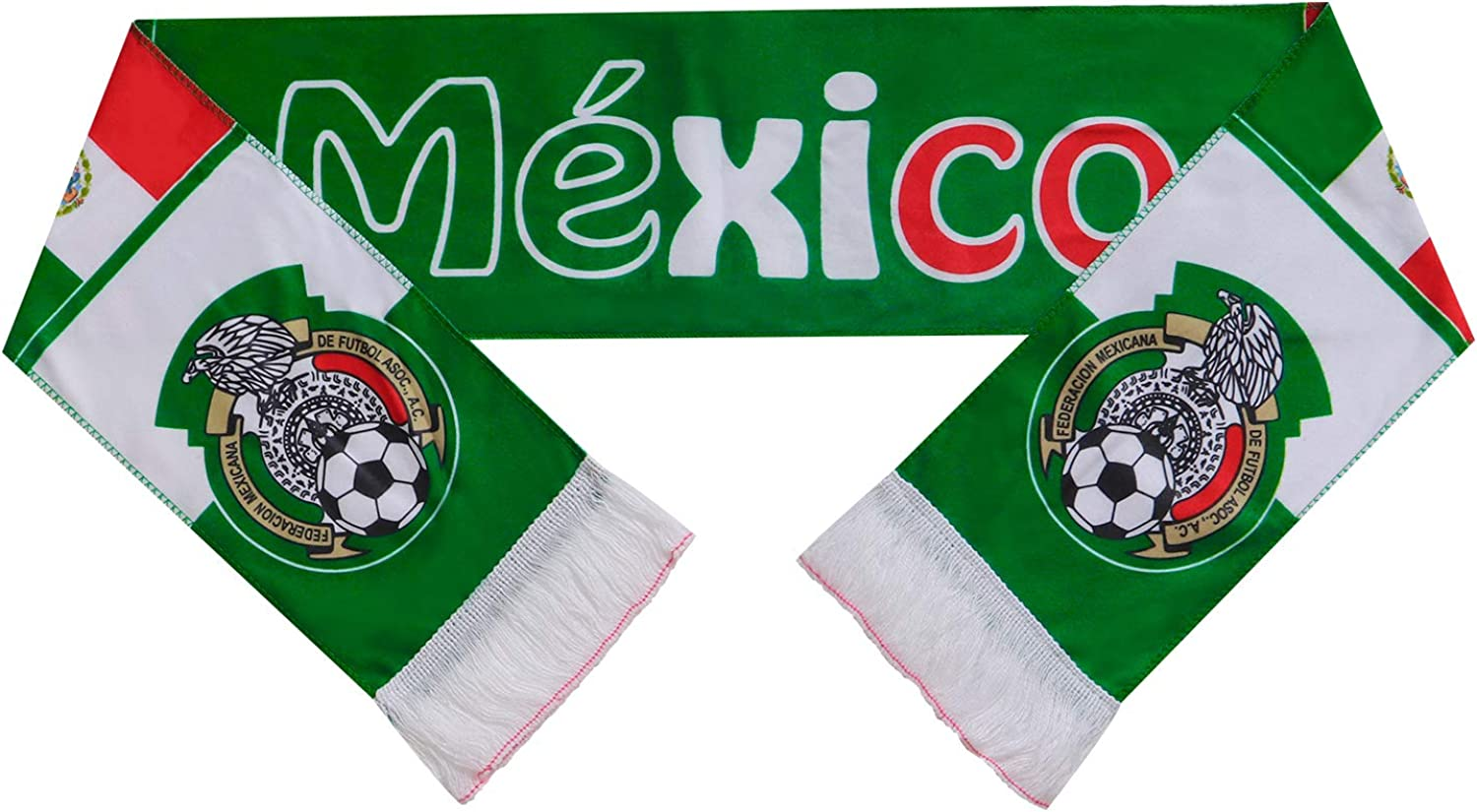 Mexico 2018 World Cup Fans Scarf National Team Scarf Flag Banner Football Cheerleaders Scarves : Clothing