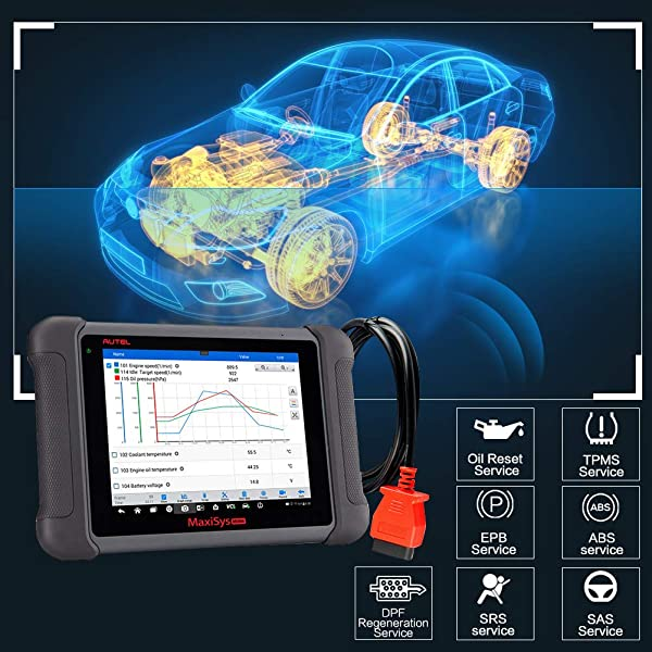The MS906 performs full diagnostic functions for multiple vehicles.