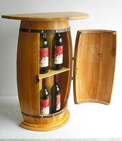 Dandibo Table Murale Table Tonneau A Vin 0373 Armoire Casier A Vin Tonneau En Bois 73cm Desserte Console Console Murale