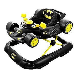 Kids Embrace 5502BATBK DC Comics Supportive Batman Superhero Baby Batmobile Walker for Infants Up to 26 Pounds, Black