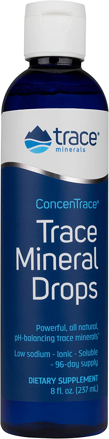 Trace Minerals Research - Concentrace Trace Mineral Drops, 8 Fl Oz liquid, Packaging may vary: Health & Personal Care