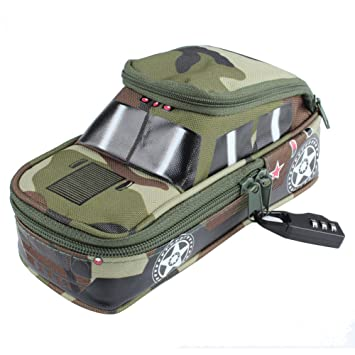 c3c147283515 ANGTUO Pencil Case Boys Cars Multi-Functional Pencil Pen Box Pouch Bag  Creative Camouflage Off