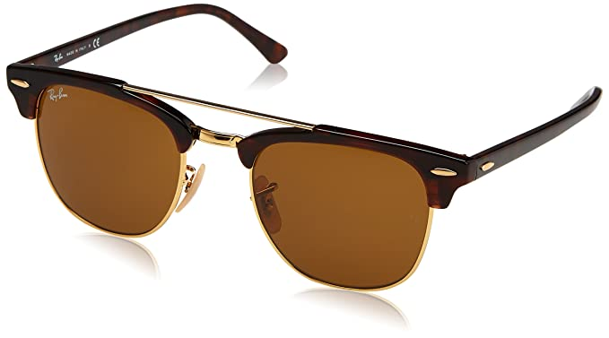 Ray-Ban UV Protected Browline Clubmaster Unisex Sunglasses -  (0RB3816990 3351  ac3fa701d6