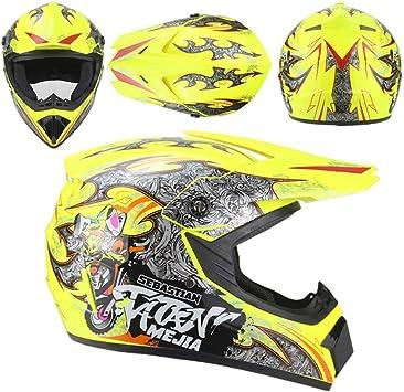 DNACC Motocross Casco Adult, Helmet Descenso Hombre ATV Quad ...