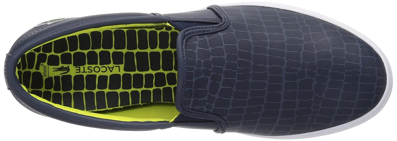 Lacoste Women's Gazon Slip-ONS B0721P7WZ7 Leather 8 B(M) US|Nvy/Fluro Ylw Leather B0721P7WZ7 c9fec0