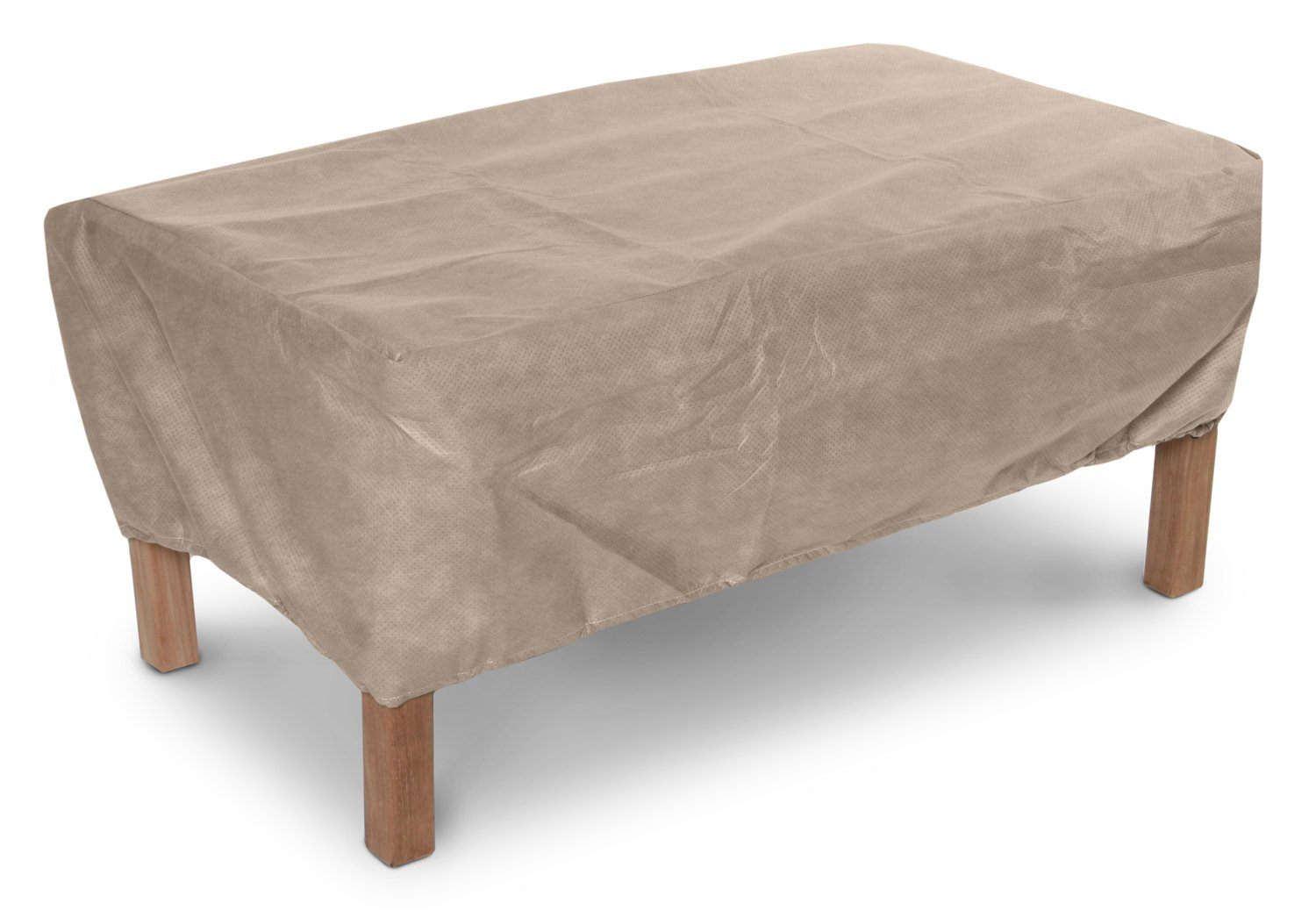KoverRoos III 39327 42 by 30-Inch Ottoman/Small Table Cover, 42 by 30 by 15-Inch, Taupe