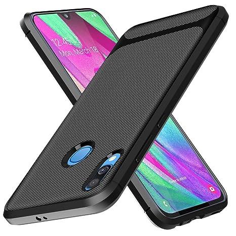 Aceniy Carcasa Samsung Galaxy A40, [Carcasa Blanda Negra] Carcasa Protectora de Silicona Ultrafina Carcasas Suaves de TPU Carcasa del teléfono para ...