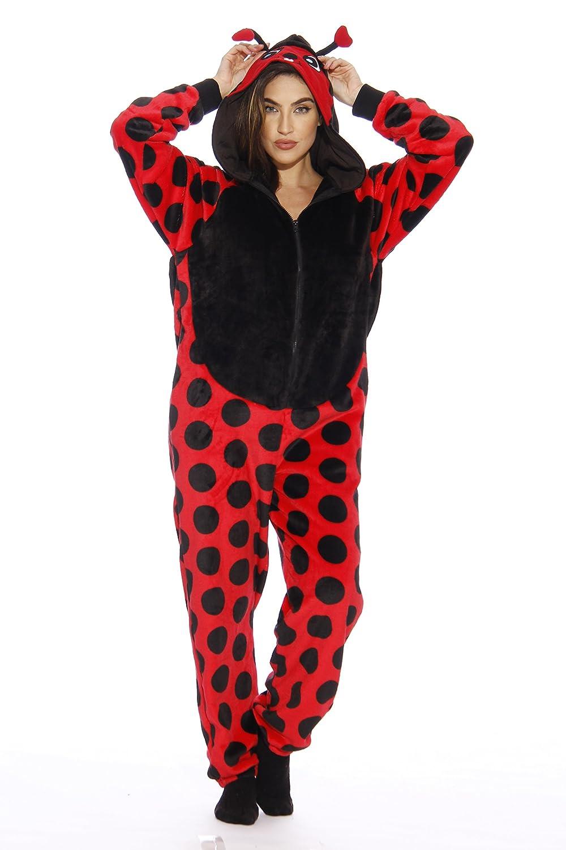 e89cd3cab245 Amazon.com  Just Love Lady Bug Adult Onesie Pajamas  Clothing