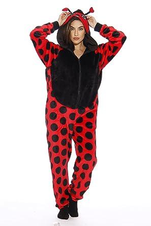 0542b92dbe Amazon.com  Just Love Lady Bug Adult Onesie Pajamas  Clothing