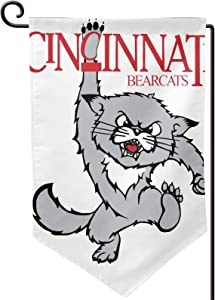 ZJLVMF Cincinnati Bearcat Double-Sided Garden Flag 100% Polyester (Polyester) 12.5x18 Four Seasons Outdoor Interior Decoration.