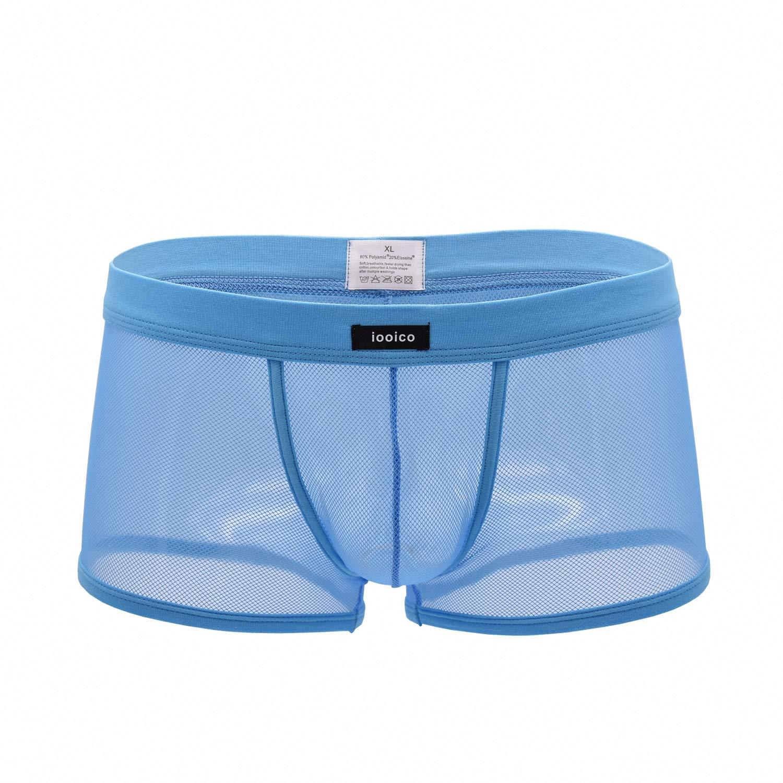 DomiGe Sheer Mesh See-Through Trunks Underwear Mens