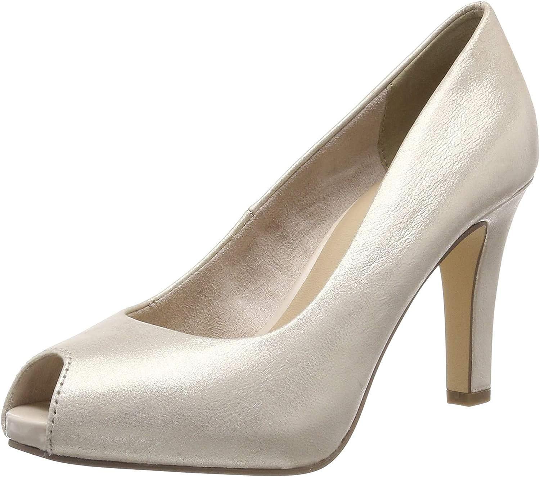 Tamaris 1-1-29300-22, Escarpins Bout Ouvert Femme Or Light Gold 909