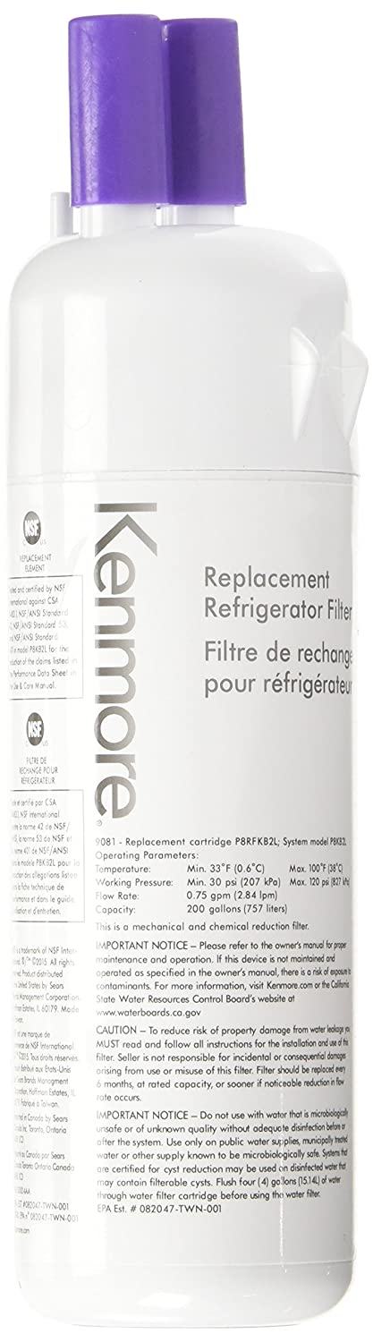 Kenmore 9081 Genuine Kenmore Refrigerator Water Filter for KENMORE,Amana Genuine Original Equipment Manufacturer (OEM) Part