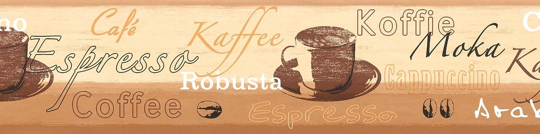 A.S. Cré ation selbstklebende Bordü re Stick ups Kü che Kaffee 5, 00 m x 0, 13 m beige braun creme Made in Germany 898517 8985-17 A.S. Création