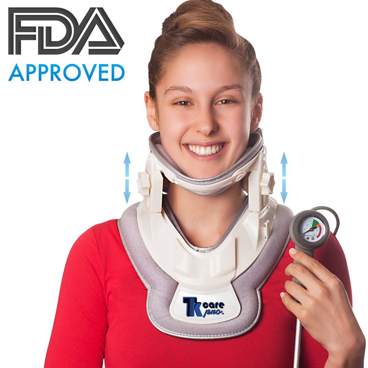 Premium Neck Traction Device   Neck Discs Cervical Collar Relieve   Inflatable Neck & Shoulders Relief Device   Perfect Adjustment Collar Air Pump Stretcher   Muscles & Nerve Pain Remedy