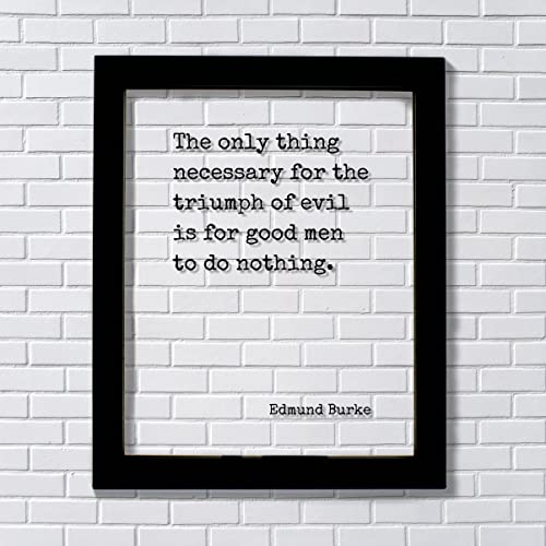 Amazon.com: Edmund Burke - Floating Quote - The only thing necessary ...