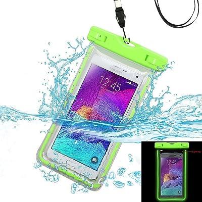 Fluorescence Clair Sensitive Housse étanche, Certifiée IPX8 pour Téléphone de taille égale et inférieure à 6'', argent, écran solaire bâton, carte/ID etc, id&eacut