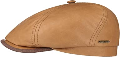 Stetson Gorra de Piel Brooklin 6 Panel Hombre - Made in Germany ...