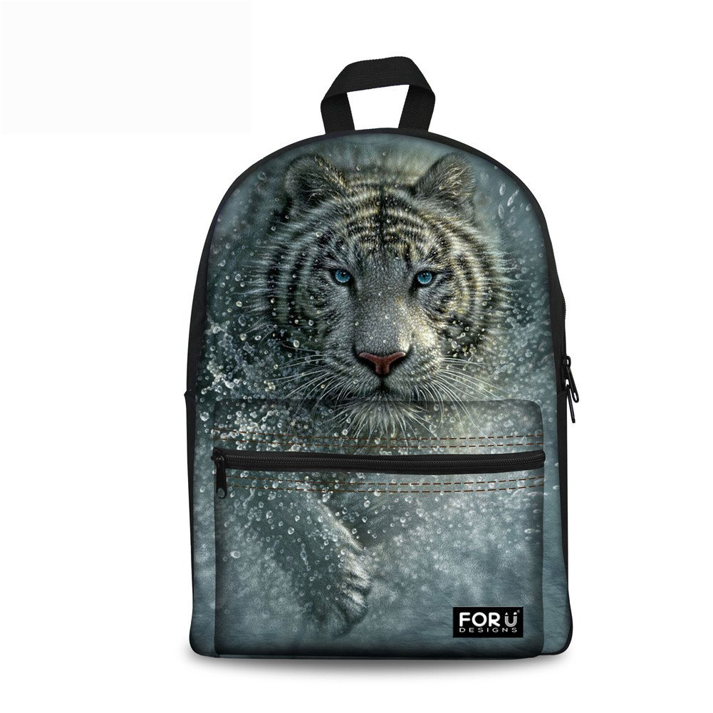 FOR U DESIGNS Cool Tiger Kids Backpack Eco-friendly School Bag for Teenagers Boys