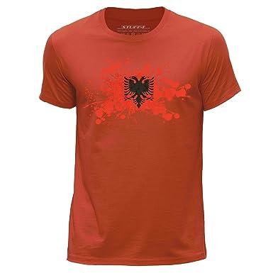 STUFF4 Men/'s Round Neck T-Shirt//India//Indian Flag Splat//CS