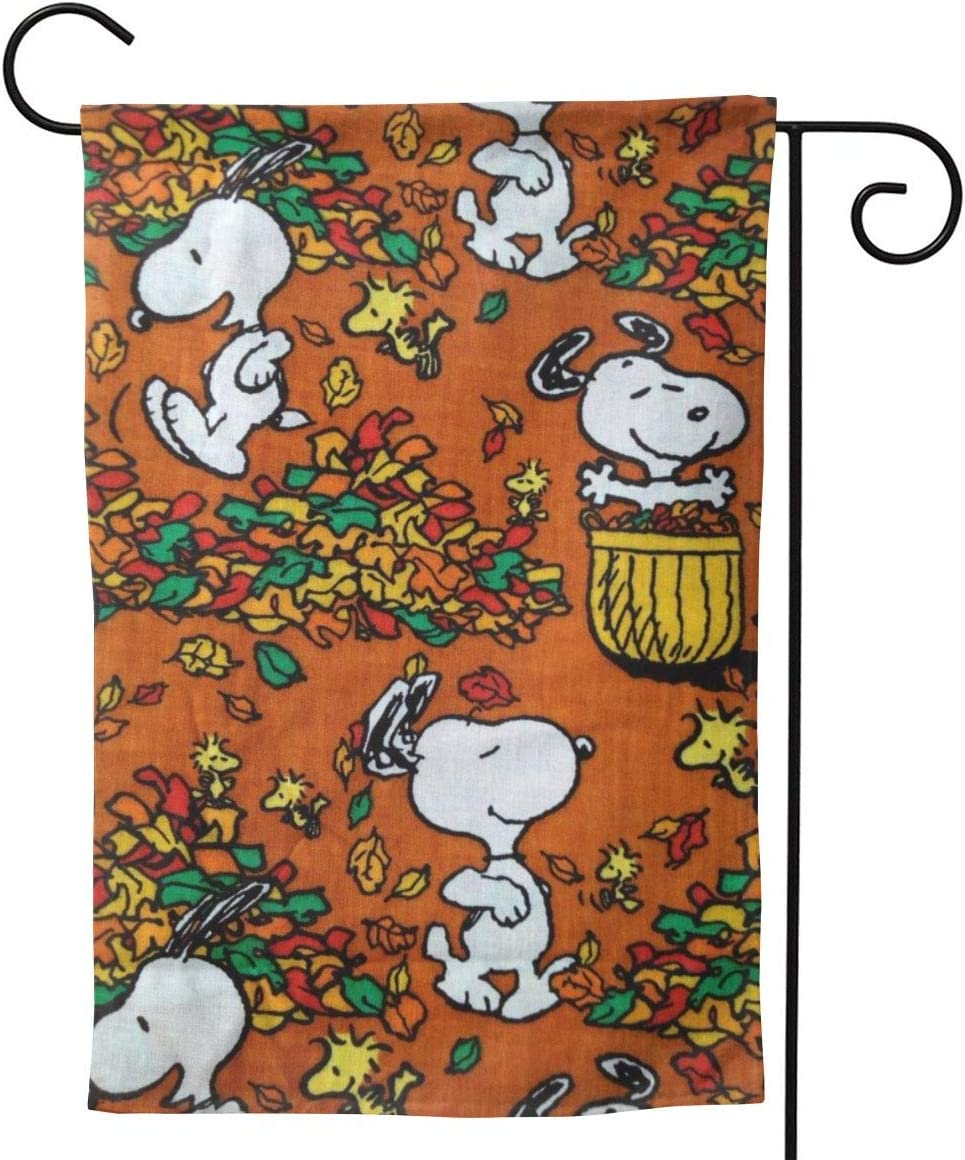 """Criss Garden Flag,Snoopy Falls Double Sided Outdoor Flag House Banner for Yard Home Decor 12.5""""X18"""" Inch Outdoor Deco"""