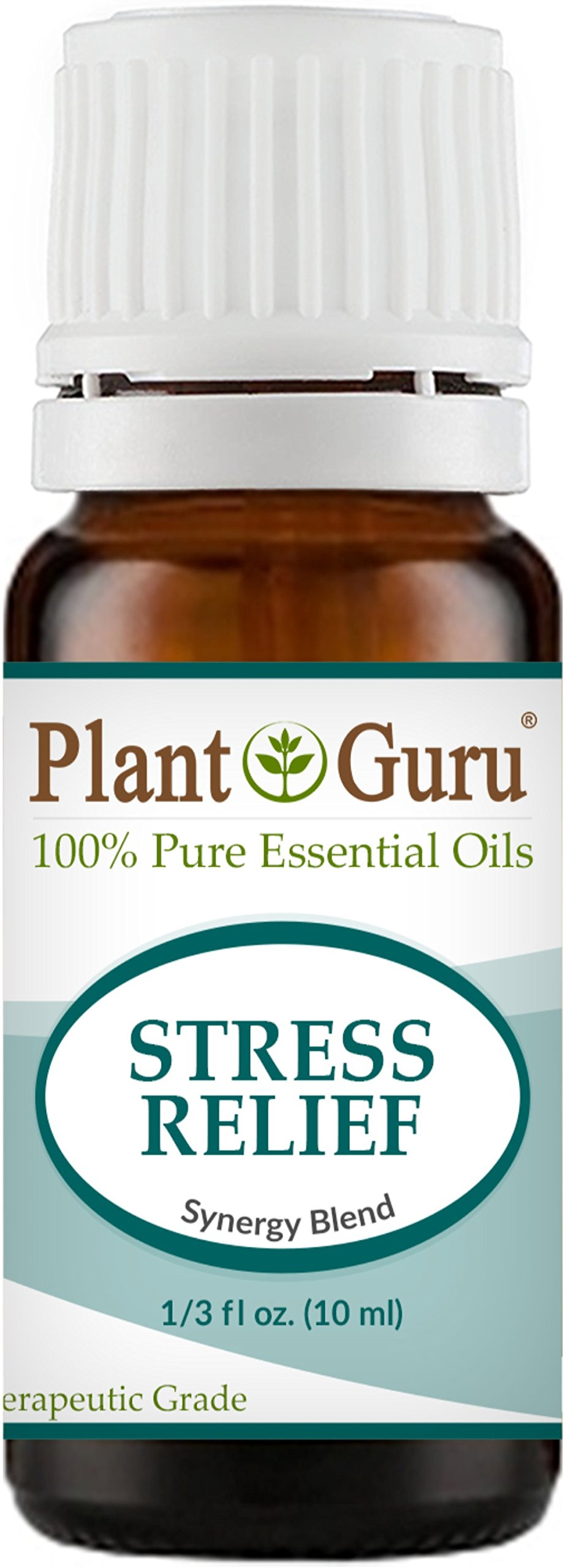 Stress Relief Synergy Blend Essential Oil. 10 ml. 100% Pure, Undiluted, Therapeutic Grade. Anxiety, Depression, Relaxation, Boost Mood, Uplifting, Calming, Aromatherapy, Diffuser.